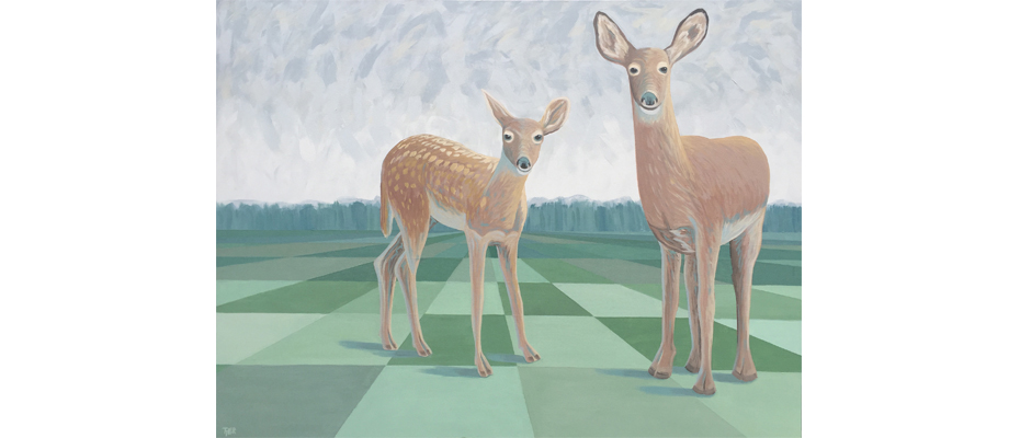 Doe and Fawn in the Open